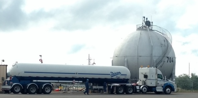 Unloading Butane in Mandan, ND
